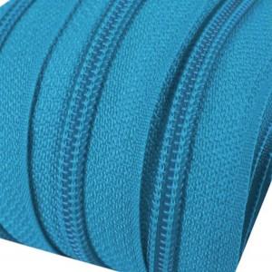 Fermeture éclair Bleue, dents de 3mm, fermeture au mètre, vendue par tranche de 25cm (sans tirette)