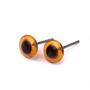 Yeux ambre 4 à 5 mm en verre pour laine feutrée ou modelage (1 paire)