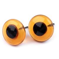 Yeux ambre 13 / 16 mm en verre pour laine feutrée ou modelage (1 paire)