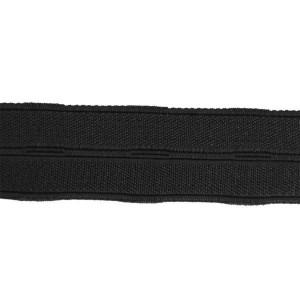 Élastique boutonnière noir, 20 mm