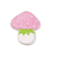 Ecusson thermocollant Champignon rose