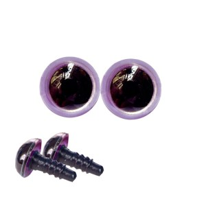 Yeux sécurité violine 10mm pour peluche (2 paires)