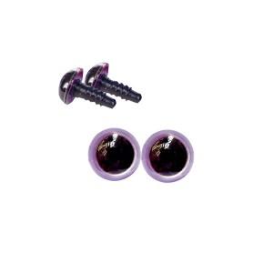 Yeux sécurité violine 8mm pour peluche (2 paires)