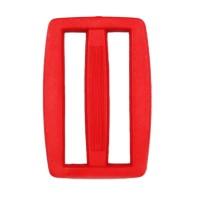 Boucle coulisse pour sac, 45mm coloris Rouge