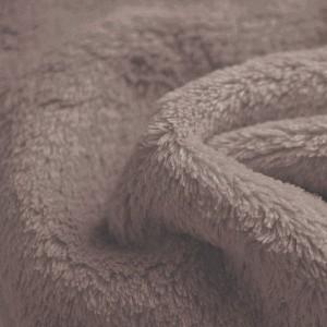Tissu doudou Flurr, coloris Taupe (tissu des Nabous)