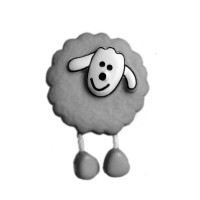 Bouton Mouton Gris perle