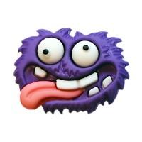 Bouton Monstre violet