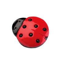 Bouton Coccinelle rouge et noir