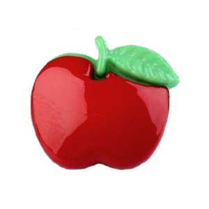 Bouton Pomme rouge