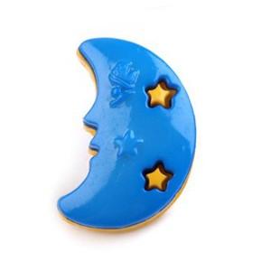 Bouton Lune Bleue