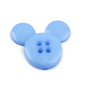 Bouton Mickey Bleu