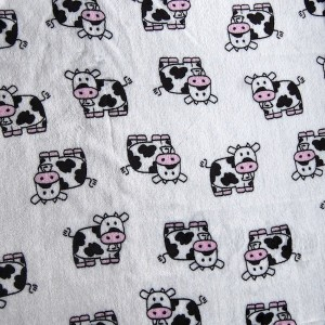 Tissu doudou Vache (x 50 cm)