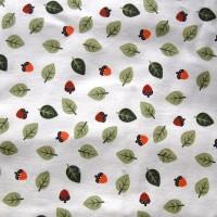 Tissu coton gratté feuilles et glands d'automne (x 50 cm)