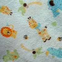 Tissu coton gratté Animaux de la savane (x 50 cm)