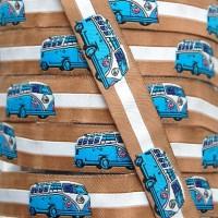 Ruban motif bus volkswagen Combi bleu