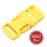 Boucle plastique type sac à dos, 32mm coloris  Jaune Bouton d'or