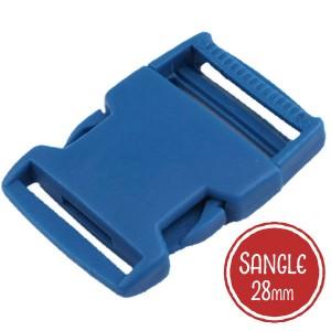 Boucle plastique type sac à dos, 38mm coloris Bleu