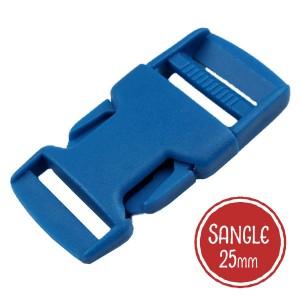 Boucle plastique type sac à dos, 32mm coloris Bleu