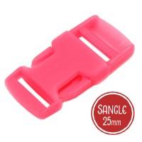 Boucle plastique type sac à dos, 32mm coloris Rose Flashy