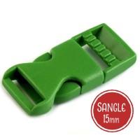 Boucle plastique type sac à dos, 20mm coloris vert