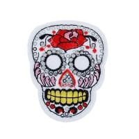 Ecusson thermocollant Santa Muerte, tête de mort mexicaine