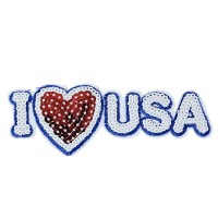 Grand Ecusson thermocollant I Love USA