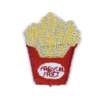 Ecusson thermocollant cornet de frites