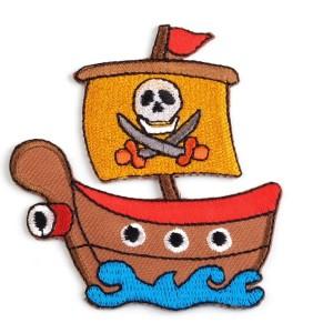 Ecusson thermocollant bateau pirate
