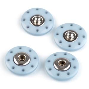 Pressions rond à coudre 20mm, coloris bleu (lot de 2)