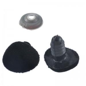Nez sécurité Velours Noir, 14 mm pour peluche (lot de 2)