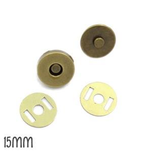 2 Petits Boutons aimantés Bronze 15 mm