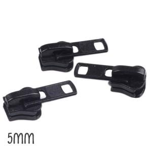 Curseur Noir pour Fermeture éclair vendue au mètre (pour maille de 5mm)