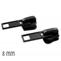 Curseur Noir pour Fermeture éclair vendue au mètre (pour maille de 8mm)