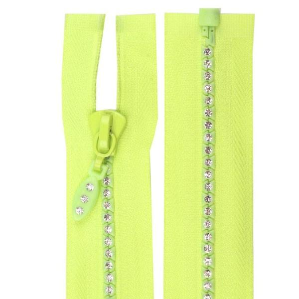 fermeture zip strass