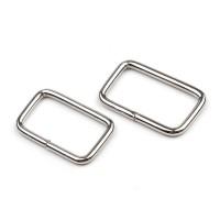 Boucle métal rectangulaire pour sac, 18 mm x 30 mm argent (lot de 2)