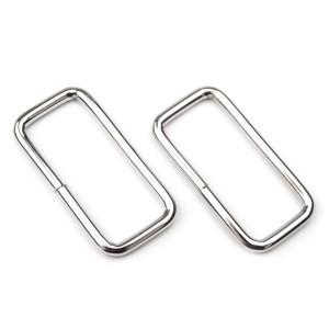 Boucle métal rectangulaire pour sac, 19 mm x 38 mm argent (lot de 2)