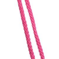 Cordon en coton tressé, rose fluo 5mm