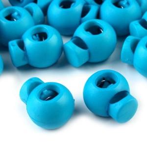 Arrêt de cordon, stop cordon, coloris bleu soutenu (lot de 2)