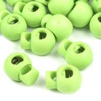 Arrêt de cordon, stop cordon, coloris vert/jaune fluo (lot de 2)
