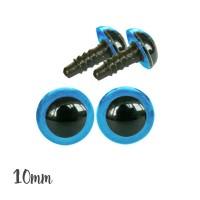 Yeux sécurité bleu 10mm pour peluche (2 paires)