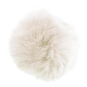 Pompon zibeline blanc, 90 mm, à l'unité