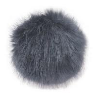 Pompon zibeline gris, 90 mm, à l'unité