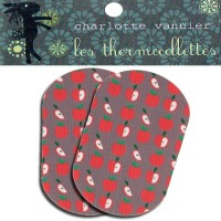 Thermocollettes par Charlotte Vanier : 2 Ecussons thermocollant motif pommes