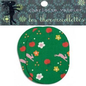 Thermocollettes par Charlotte Vanier : 2 Ecussons thermocollant motif lapin