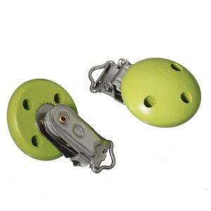 Clip attache Tétine, coloris vert pomme (1 pièce)