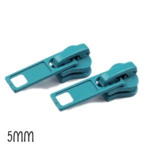 Curseur bleu Canard pour Fermeture éclair vendue au mètre (pour maille de 5mm)