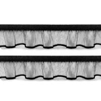Elastique volanté, coloris noir, 18mm