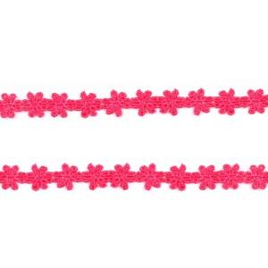 Dentelle Fleur coloris rose, largeur 14mm