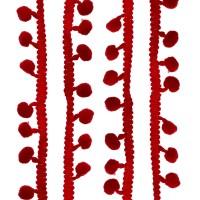Galons petits Pompons, coloris rouge bordeaux