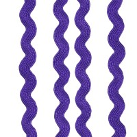 Ruban serpentine, 8mm, coloris Violet